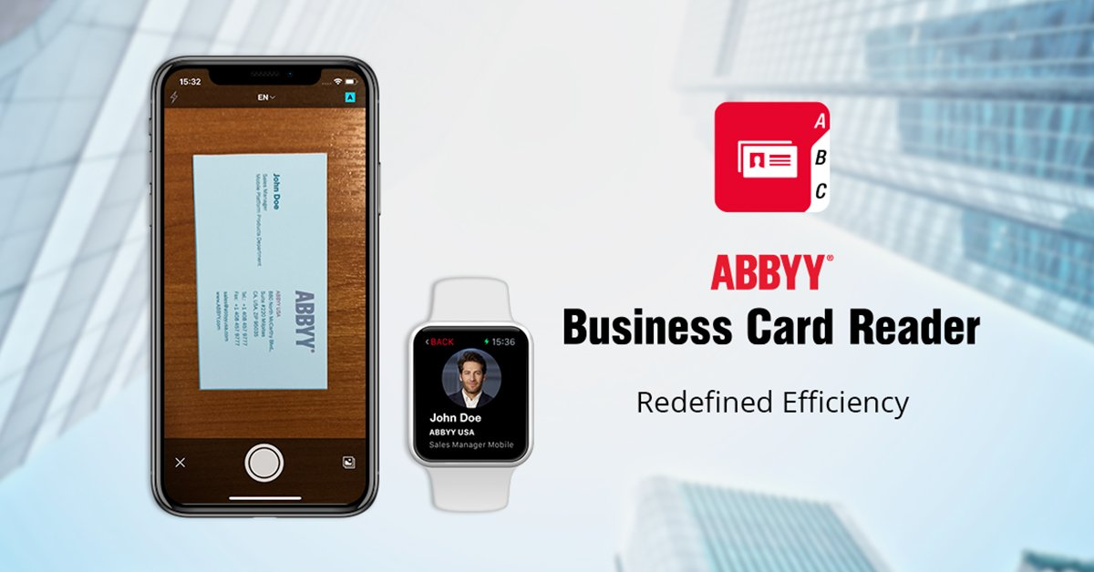 Abbyy on twitter abbyy rolls out major update to business card easily find and keep in touch with your business card contacts on linkedin and facebook httpapple2j1kkpz picitterqiht2ewbjg reheart Choice Image