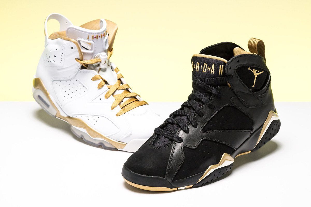 new product e04ef 155c9 ... accents on the Air Jordan 7, the silhouette Jordan wore during the  Games, and the Air Jordan 6. https   buff.ly 2IXEXtb  pic.twitter.com maRdKHbFMl