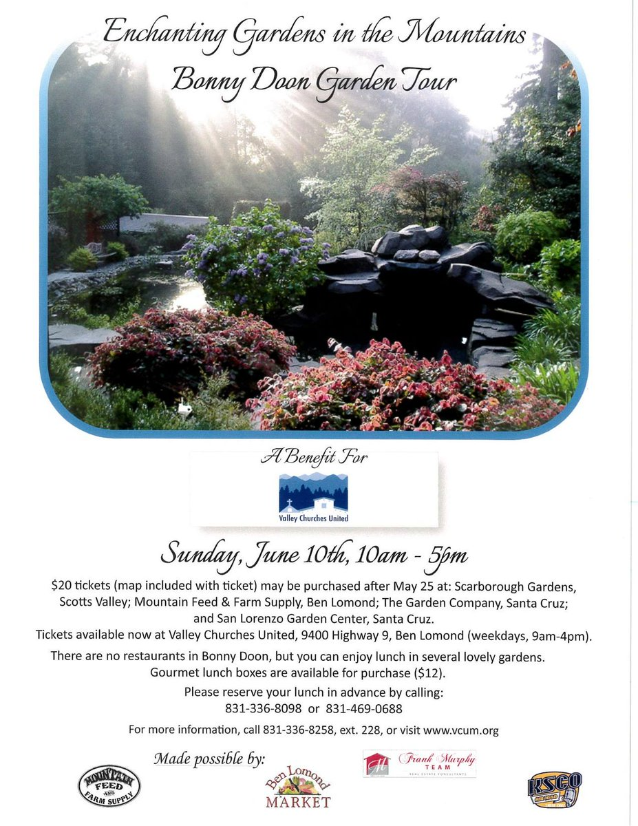 Tickets For Tomorrowu0027s Garden Tour Fundraiser Are Available Saturday And  Sunday At Mountain Feed In Ben