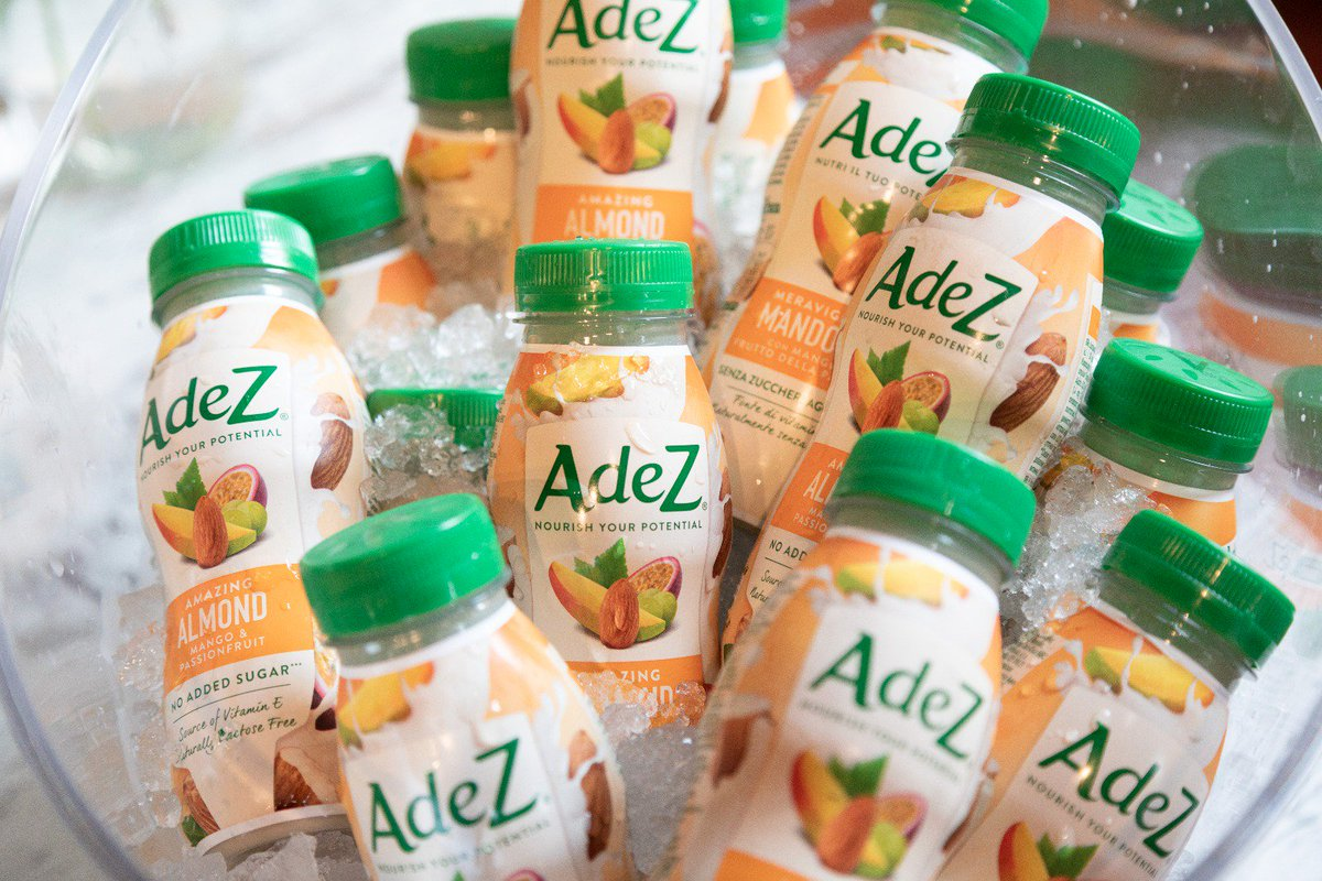Today we launched our new #AdeZ range including 2 fruit juice blends:  outstanding oat strawberry & banana and amazing almond mango & passion  fruit.