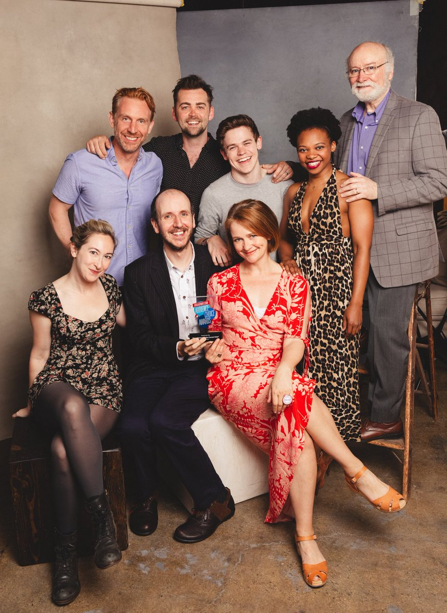 ICYMI #CursedChildNYC won Favourite New Play at the @broadwaycom Audience Choice Awards. Here are some of the cast and playwright Jack Thorne with the award. Thank you to everyone who voted for us! Photographer @EmilioMK.
