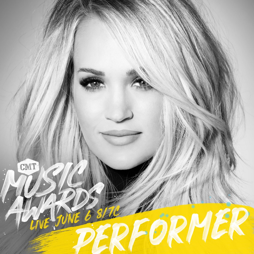 Carrie Underwood  - Just announc twitter @carrieunderwood cmtmusicawards