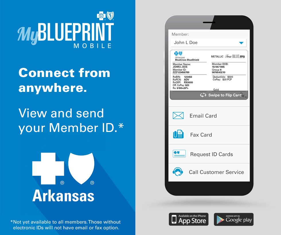 Arkansas blue cross and blue shield on twitter never be without download the my blueprint mobile app to see your id and fax or email it to providers for more information visit httpbit2id57qx picitter malvernweather Images