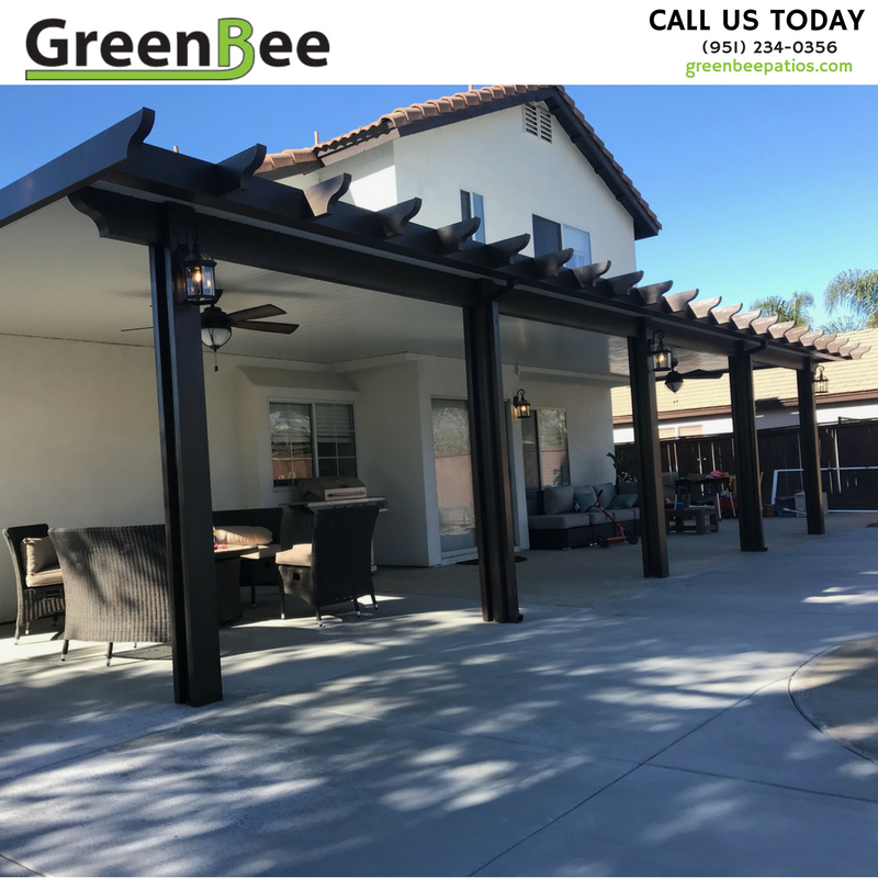 Attirant ... Patio, With The Scallop End Style, Provides Maximum Shade. Ask Us How  You Can Get A FREE Ceiling Fan Installed With Your Estimate, Between Now  And June ...