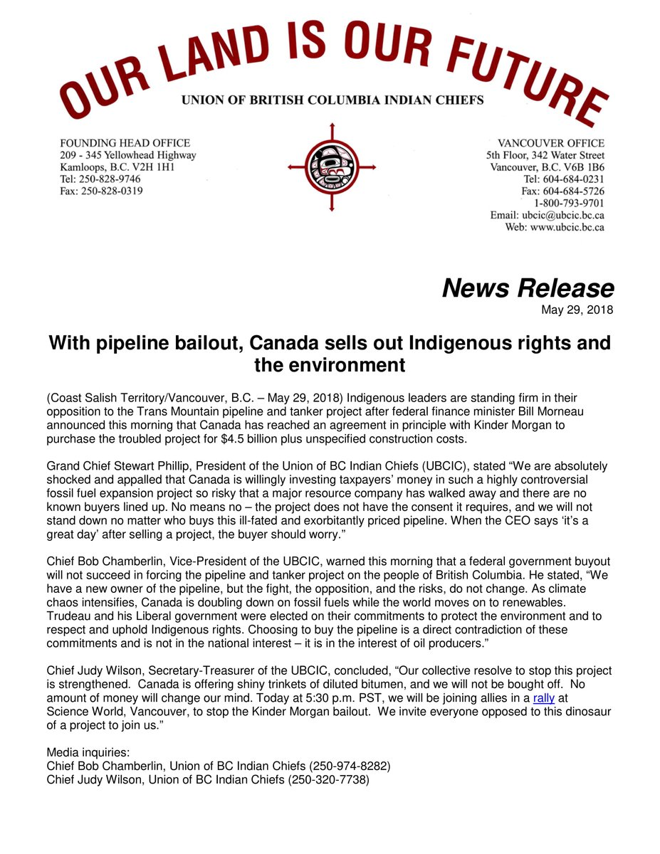 Ubcic On Twitter Indigenous Leaders Are Standing Firm In Their