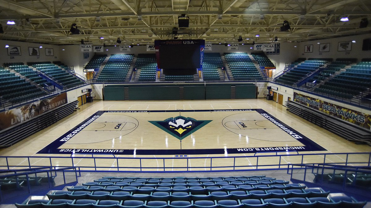 Uncw Basketball On Twitter The Home Court Is Looking Pretty Sweet Following An Early Summer Makeover The Rock Will Be Bouncing Again Soon In The Home Of The Six Time Caa Champions Wingsup Https T Co P0zctvmjoy