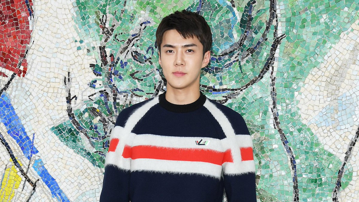 Sehun of @weareoneEXO was the best-dressed man at Louis Vuitton's show yet again. https://t.co/HKV0oM54rW