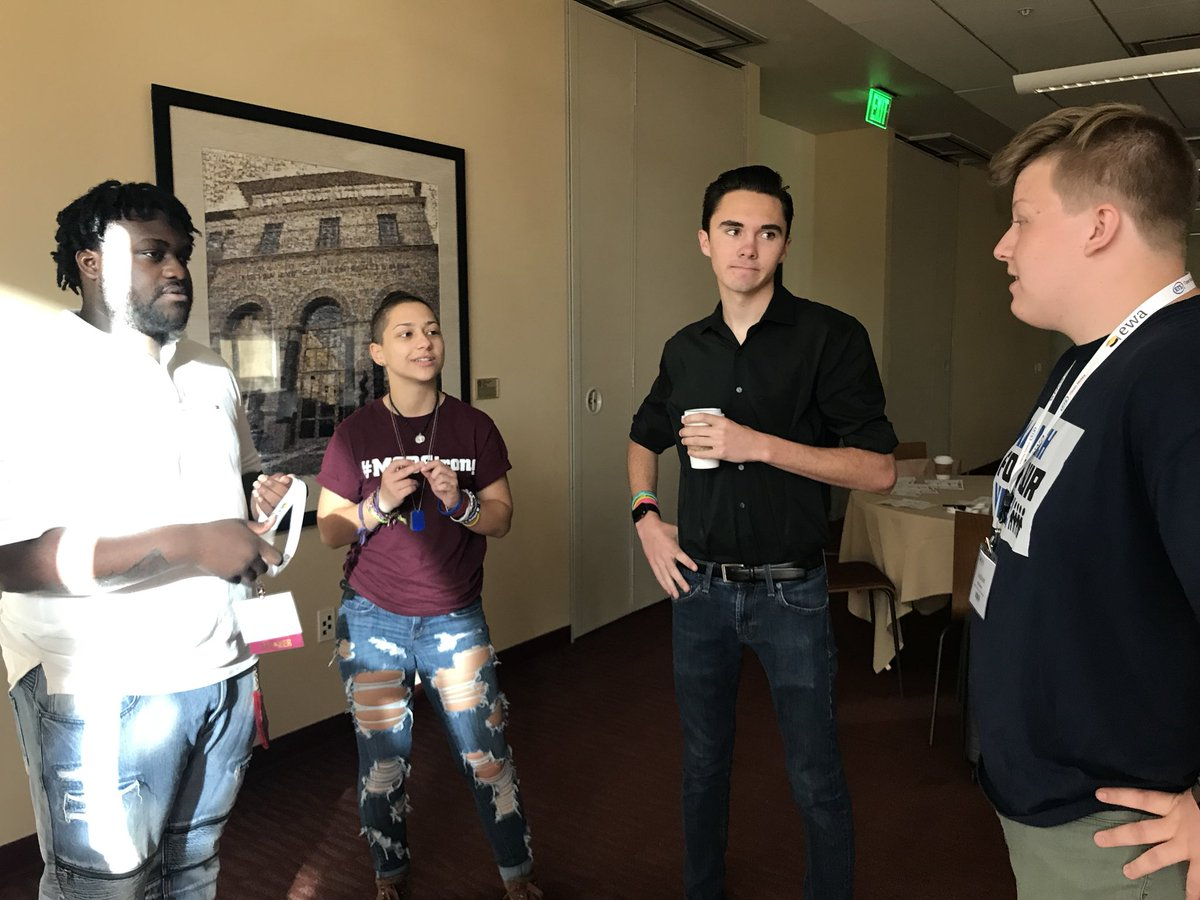 This photo was taken at the @EdWriters #EWA18 National Seminar. It was so great to spend time with other activists @davidhogg111 @Emma4Change @Alex_King737. This movement is about coming together. Unifying, and strengthening our voices TOGETHER.<br>http://pic.twitter.com/XFZulY8AGS
