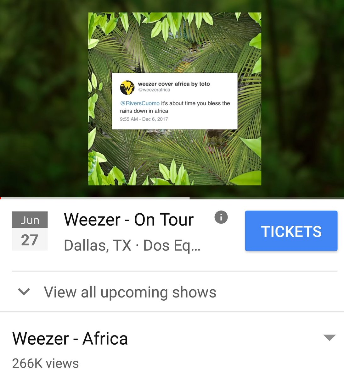 weezer cover africa by toto on Twitter: