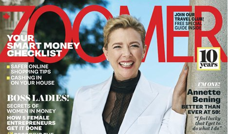Happy 60th Birthday to Annette Bening. Cheers!  /  Zoomer March 2018