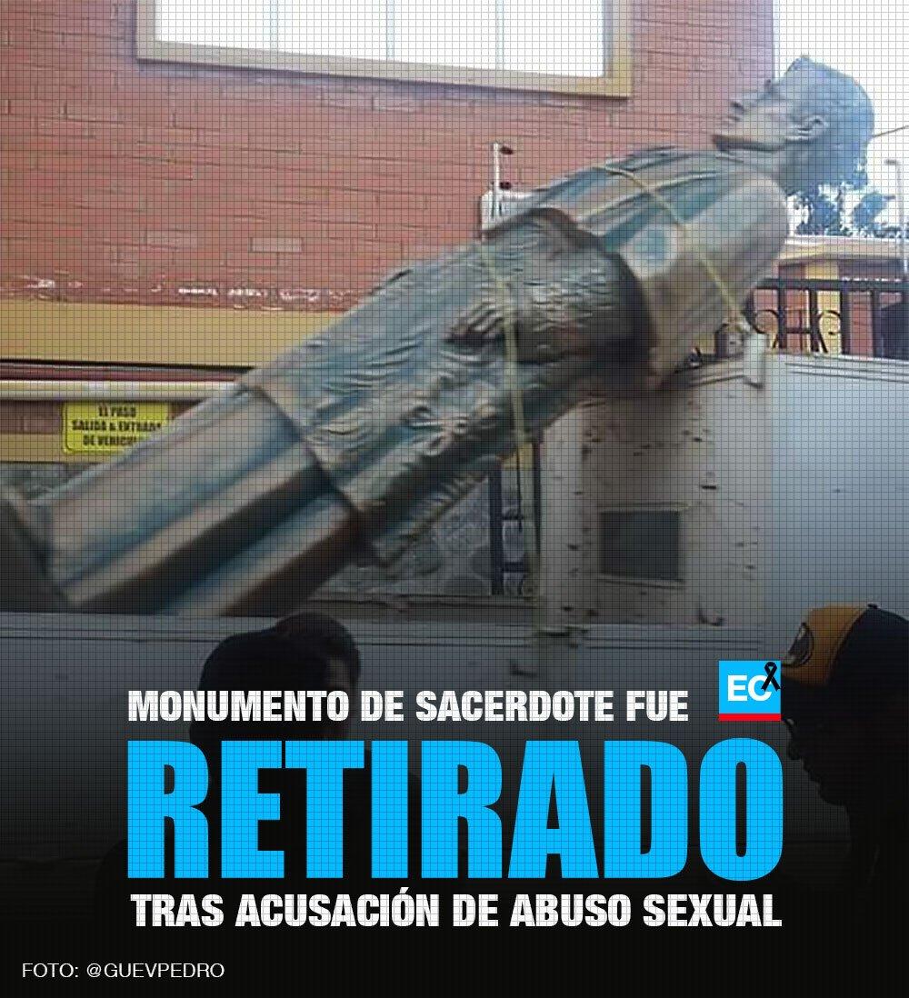 La escultura del sacerdote césar c., acusado de abusos sexuales a ...