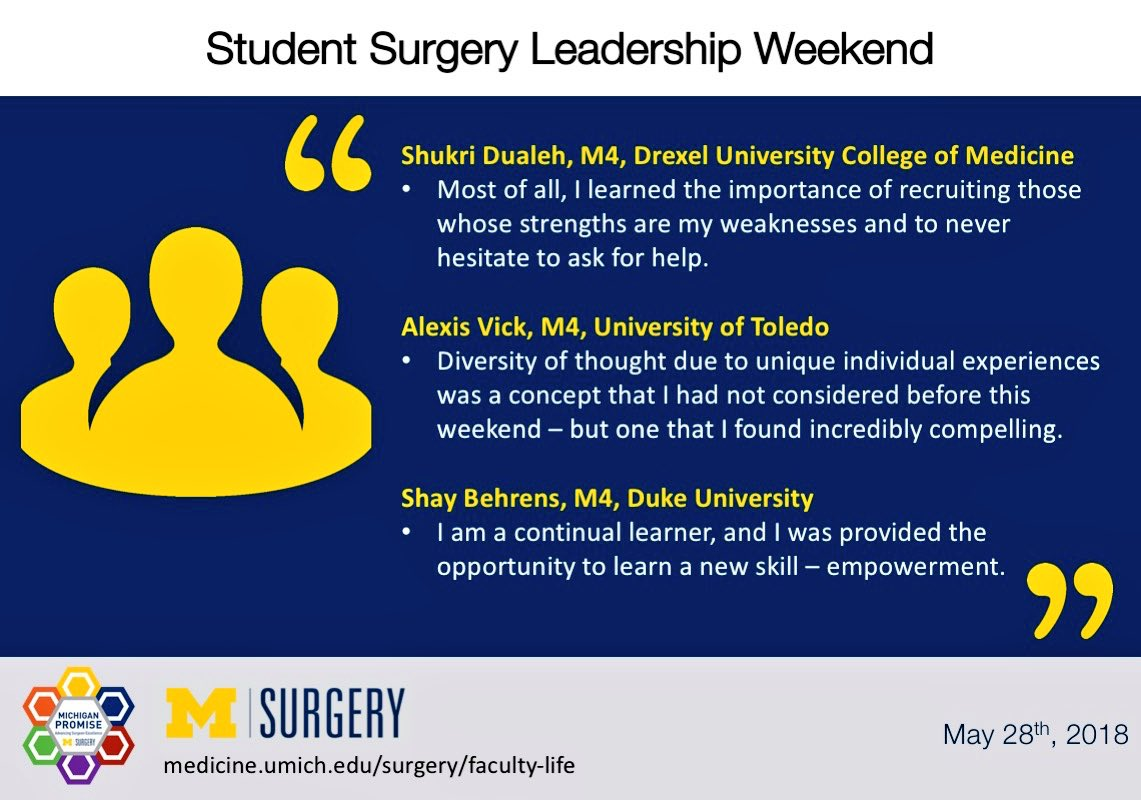 Umich Academic Calendar.Michigan Surgery On Twitter Student Surgery Leadership Weekend Is
