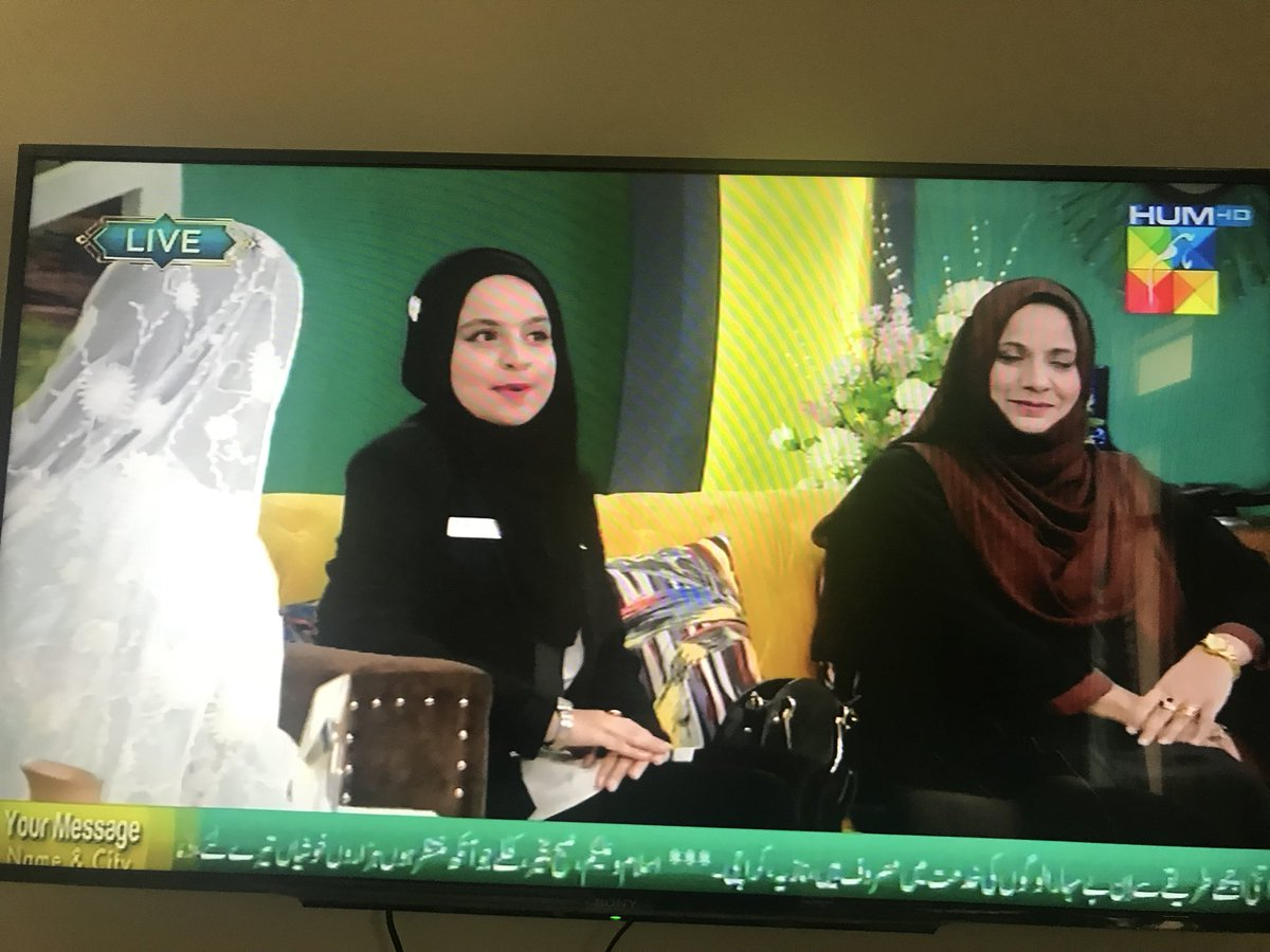 @iEARNPAK #summersister Dania on @Humtvnetwork with her mom on air now.