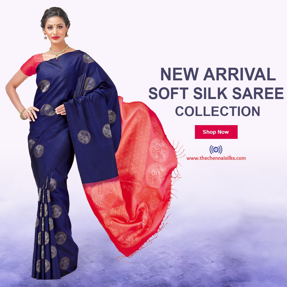 The Chennai Silks On Twitter New Arrival Soft Silk Saree Collection Shop Https T Co Fugvqsiv3g