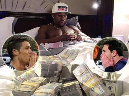 Image result for Forbes Mayweather na Messi