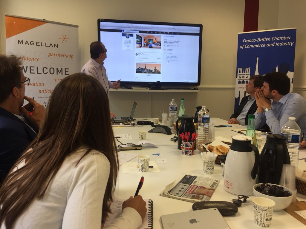 Today #smebreakfast @fbcci @Philippeattal specialist in #socialmedia helps #members to better use #linkedin in a #professional #environment. How to unlock the true potential of #socialmedia #francobritishchamber <br>http://pic.twitter.com/KVUZKsGCCH