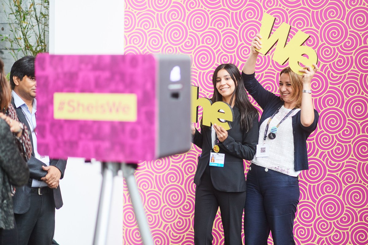 Did you take your #SheisWe picture at the #EDD18 yet? Go to one of our photo booth and join the #SheisWe movement!
