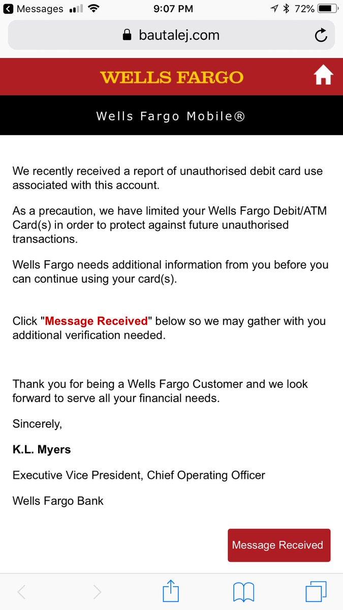 Ask Wells Fargo on Twitter: