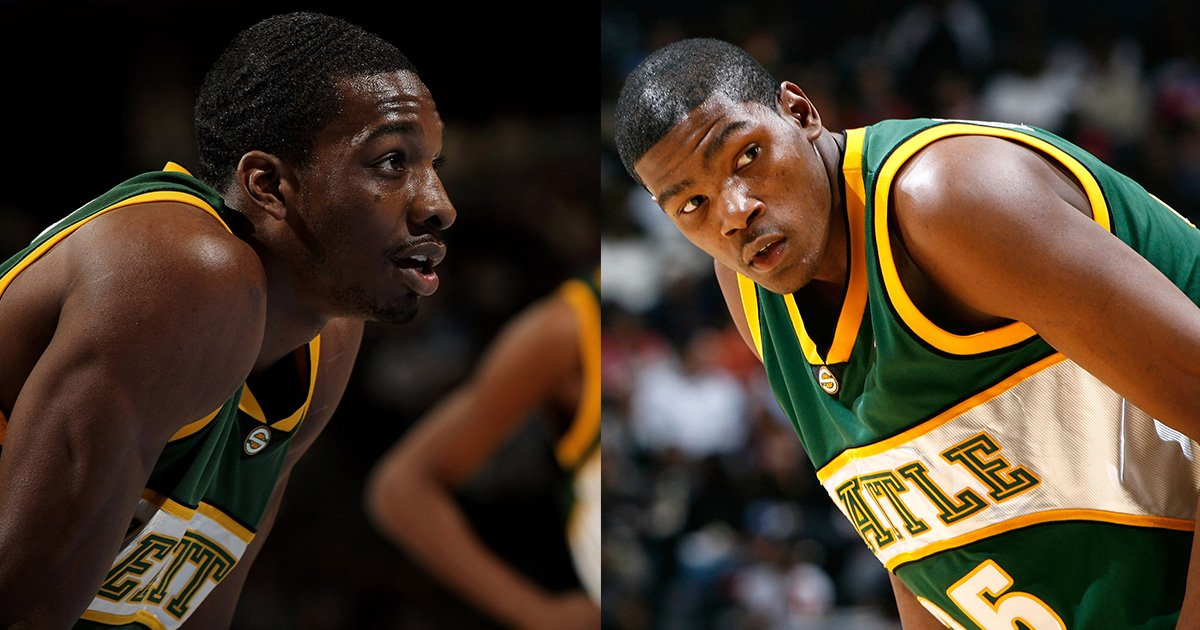 34f720a34aef Last 2 active supersonics players in kevin durant