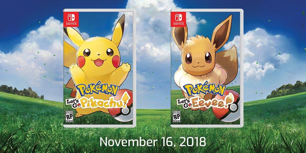 Pokemon Let S Go Pikachu Eevee Versions Debut On Nintendo Switch