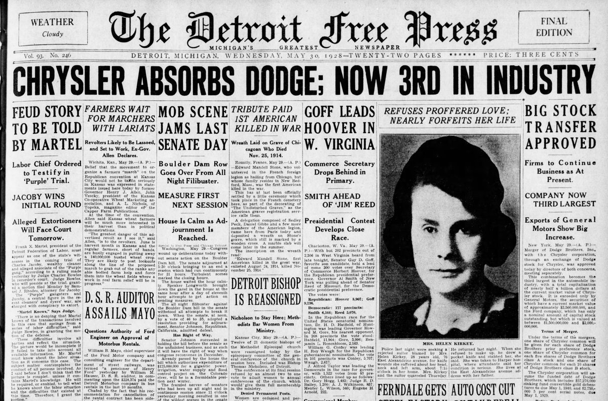 1928 : Chrysler Buys Dodge Brothers