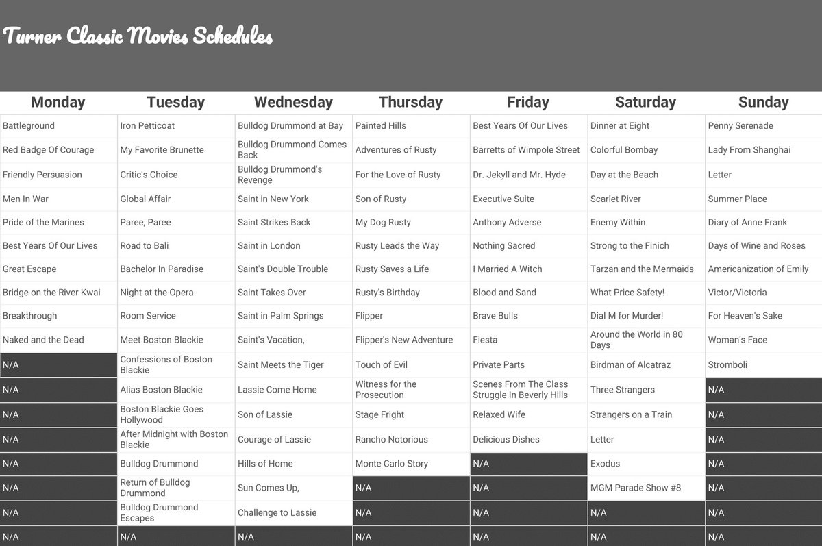 tcm schedule archive (@tcmschedules) | twitter