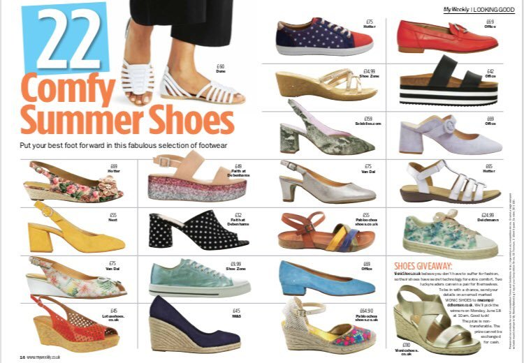1f9a143551511 Block heels are the IT shoe of the season...our snazzy snake-print   Alessia  are in the latest  My Weekly mag! ...