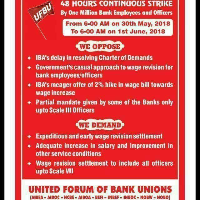 Public sector bank operations hampered in Gujarat due to two-day nation-wide strike by UFBU
