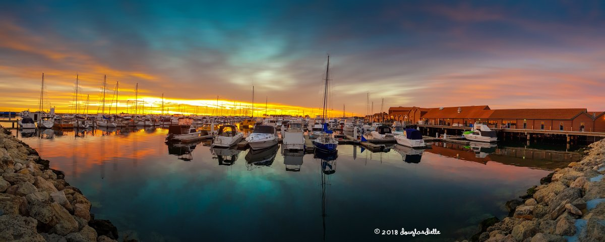 Sunset at Hillarys Boat Harbour, Perth