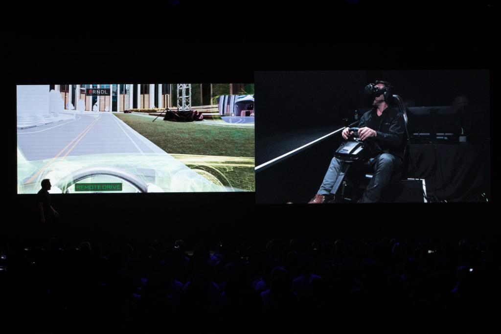 Check out the incredible shrinking finale to #GTC18 where one of our engineers uses sensors and VR to remote control a quarter-scale vehicle in real time: nvda.ws/2H19eWo