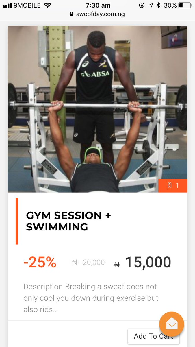 What are you waiting for???  #bbnaija2018 #gymnigeria #tolex #Awoofdeals #AbujaOnly #nigeria #Abujadeals #gymsession #fitfam #abdominalworkouts #bodytraining #fitnessaddict #iworkout #swimclass #onlinemarketing #workoutmotivation #exercise #saveonawoofday #onlinemarketplace<br>http://pic.twitter.com/Oa5s67vzG4