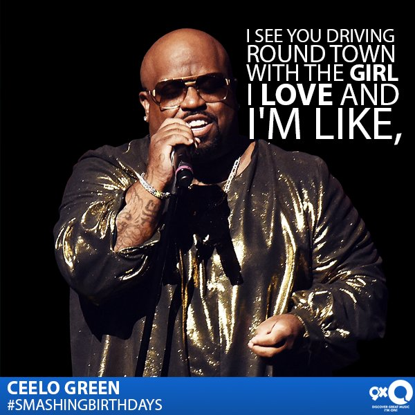 CeeLo Green best known for his soul music celebrates his today! Happy Birthday CeeLo!