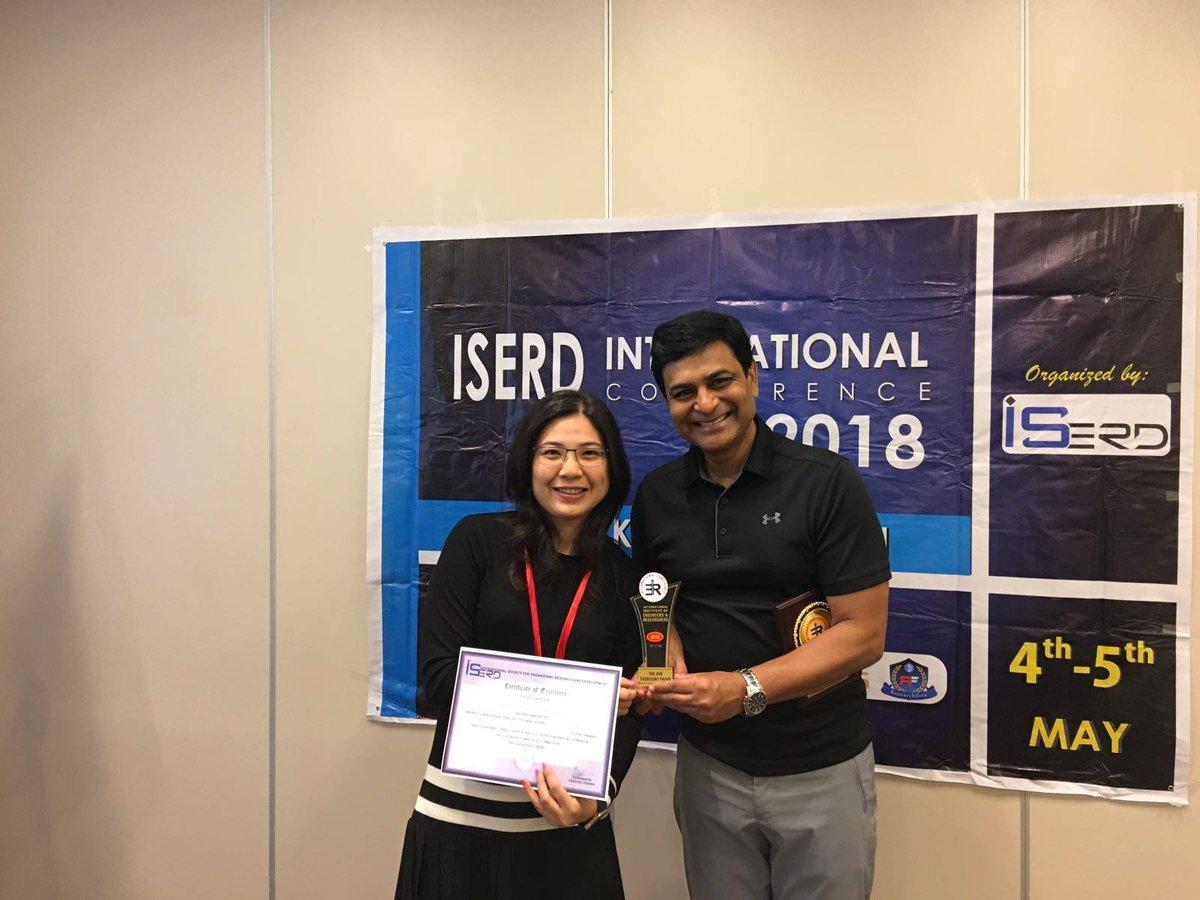 Congratulations to Dr Wing Lam, Associate Professor @PolyU_FB, on winning the Best Paper Award at the ISERD−International Conference on #Economics, #Management, and #SocialStudy (ICEMSS) 2018. More: https://t.co/qtSpUaku5W @iserd_conf https://t.co/u711C3XKu5