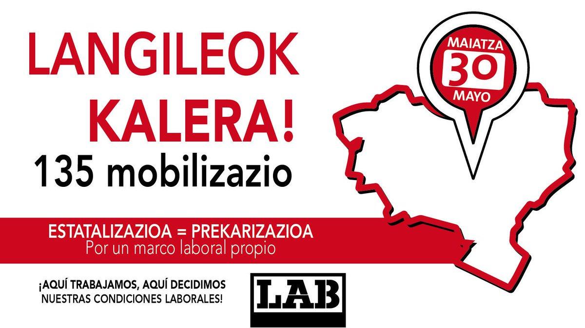 GAUR #LangileokKALERA  📢📢📢  Espainiarekiko dependentzia=lan-hitzarmenen estatalizazioa=lan-baldintzen prekarizazioa  Hobeto bizitzeko hemen erabaki!  #LanDuina #BiziDuina #HerriDuina  @labzpf Mobilizazioak #Bilbo #Donostia #Gasteiz