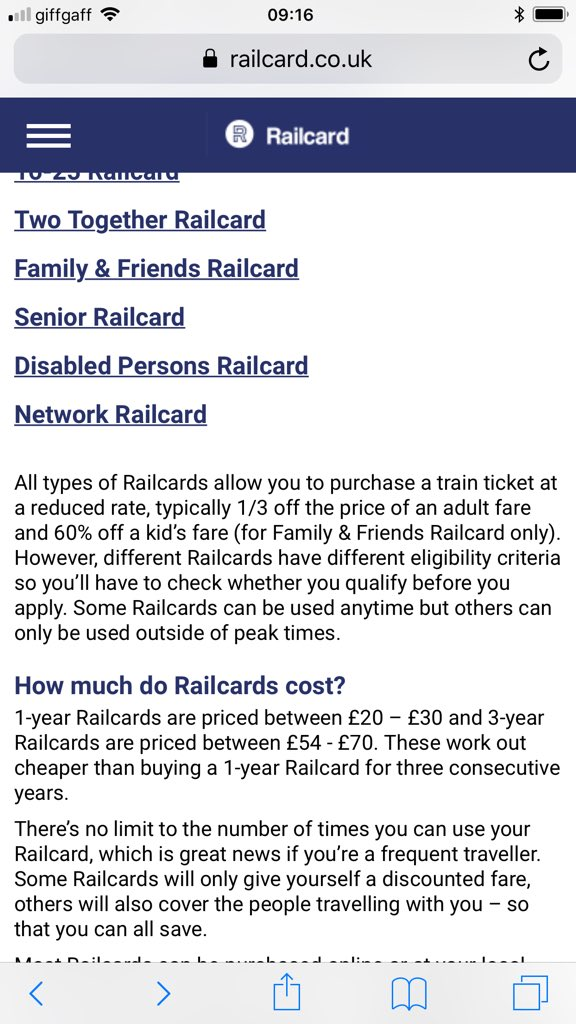 But On Your Website It States The 60 Off Childrens Fares Is For Friends And Family Only Does Network Rail Card Actually Give Just 1 3