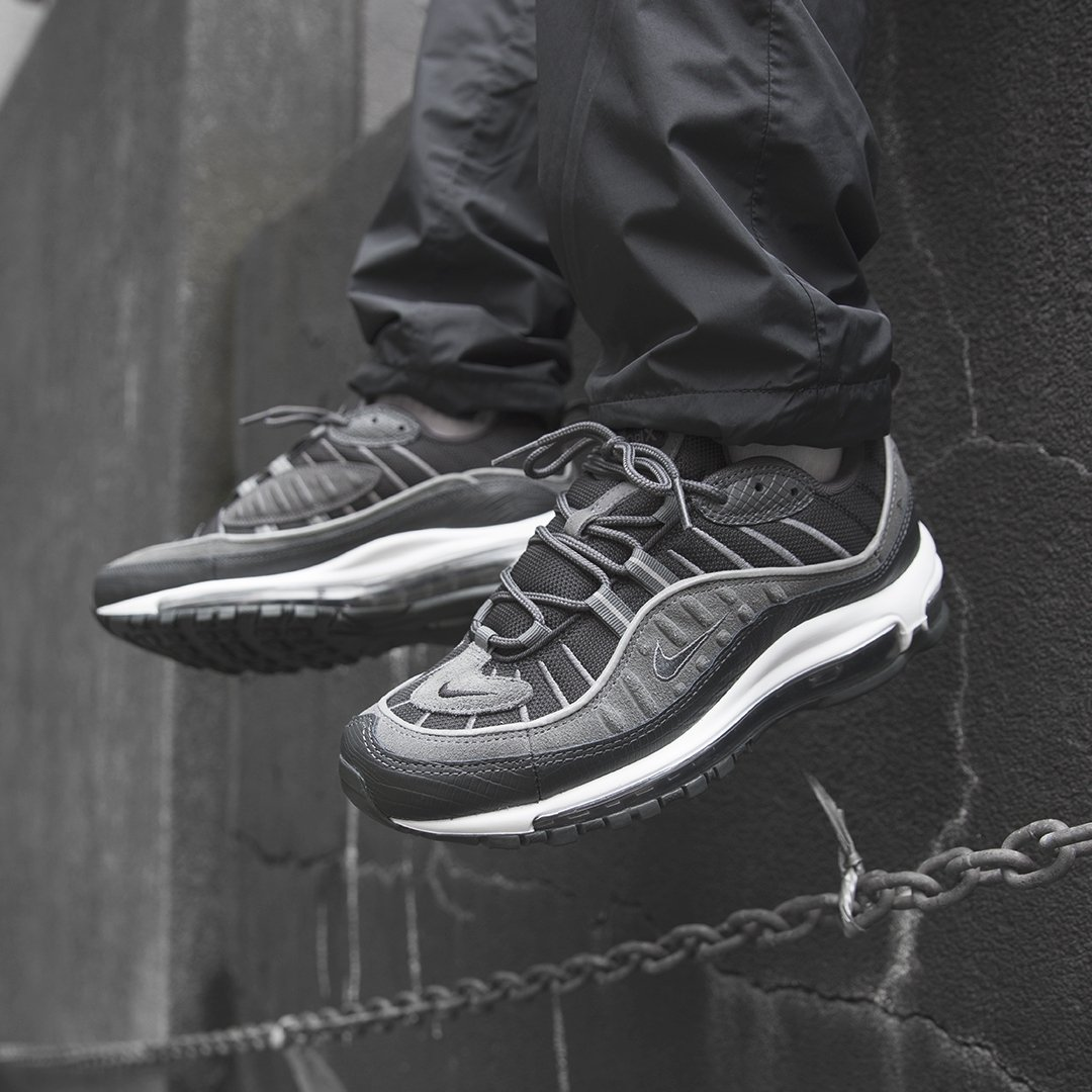04eeb4b7493c20 Nike Air Max 98 SE  Anthracite Dark Grey . Launching in-store and online on  Thursday 31st May (available online at 8 00AM BST). Sizes range from UK6 -  UK12 ...