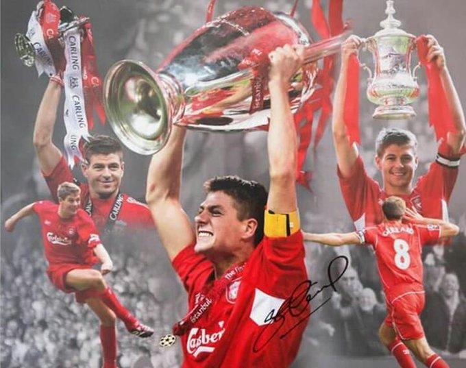 Happy birthday to our captain fantastic Steven Gerrard    YNWA