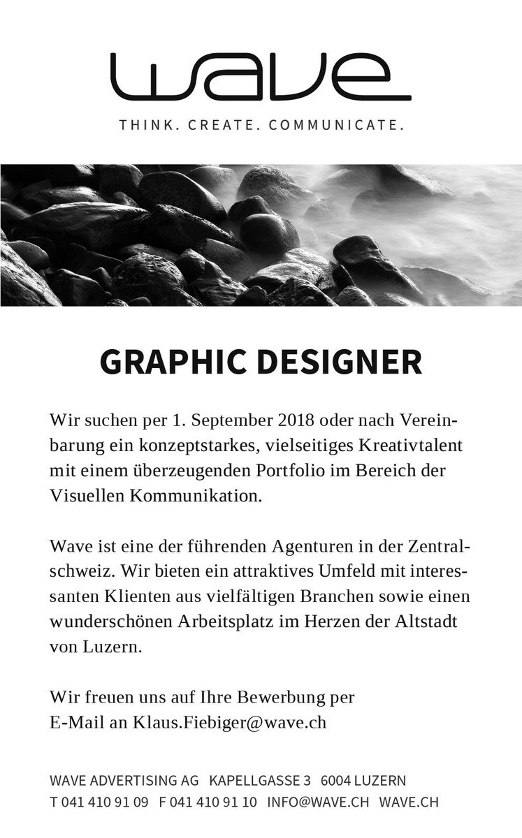 werbeagentur wave on twitter we want you jobsearch wewantyou wearesearchingyou grafikdesign grafikdesignjob graphicdesigner graphicdesigner - Bewerbung Werbeagentur
