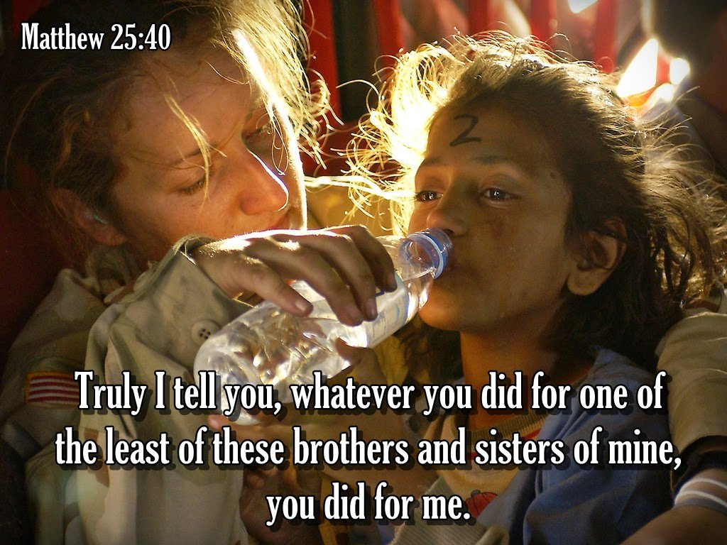 Image result for Matthew 25:37-40