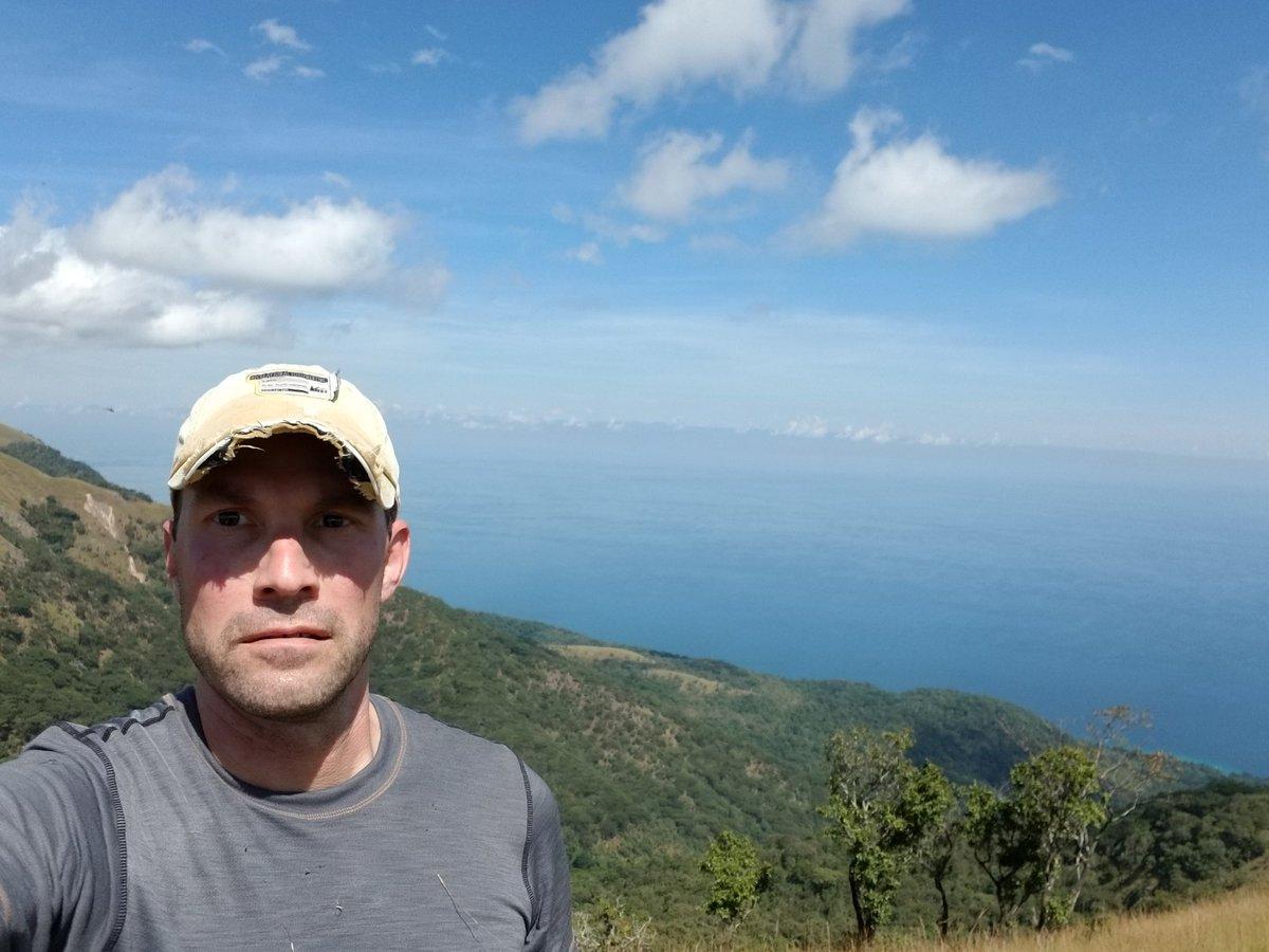 Looking grumpy on the rift escarpment. Nevertheless a perfect day at #gombe @ASUBeingHuman @HumanOriginsASU