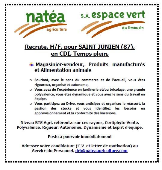 Natea Agriculture On Twitter Saint Junien Vous Avez Un