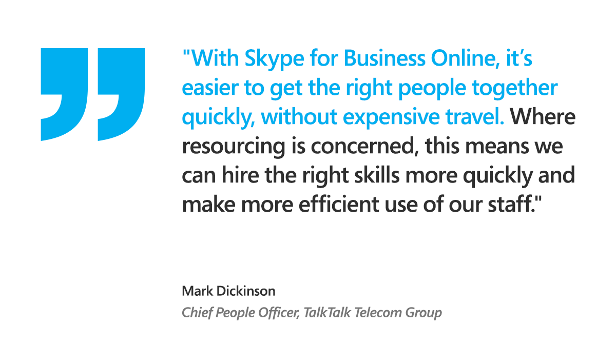 See how Mark Dickinson, Chief People Officer at TalkTalk Telecom Group, modernized his workplace culture using #Skype4Biz and #Microsoft365. Find out more here: https://t.co/tNMO9jYdD1 https://t.co/4VFZqE2P4q