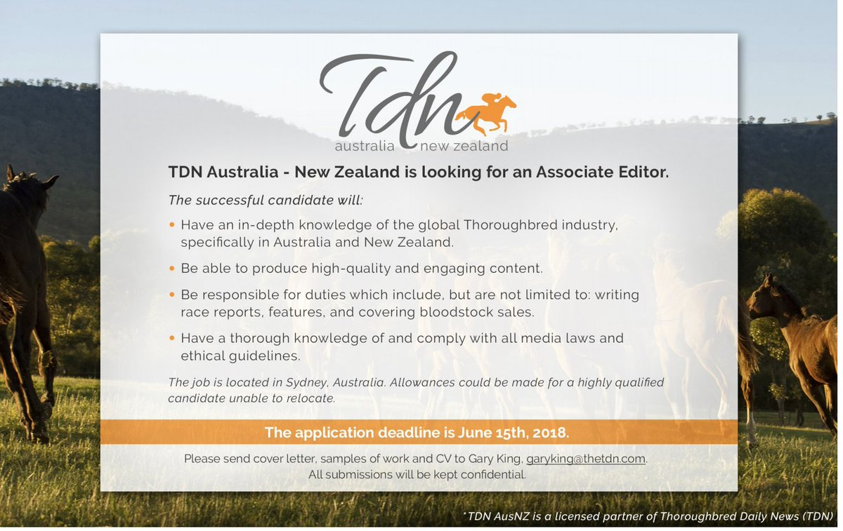 The New Publication Is Seeking An Associate Editor Based In Sydney,  Australia. Interested Candidates Should Send A Cover Letter, Samples Of  Work And CV To ...