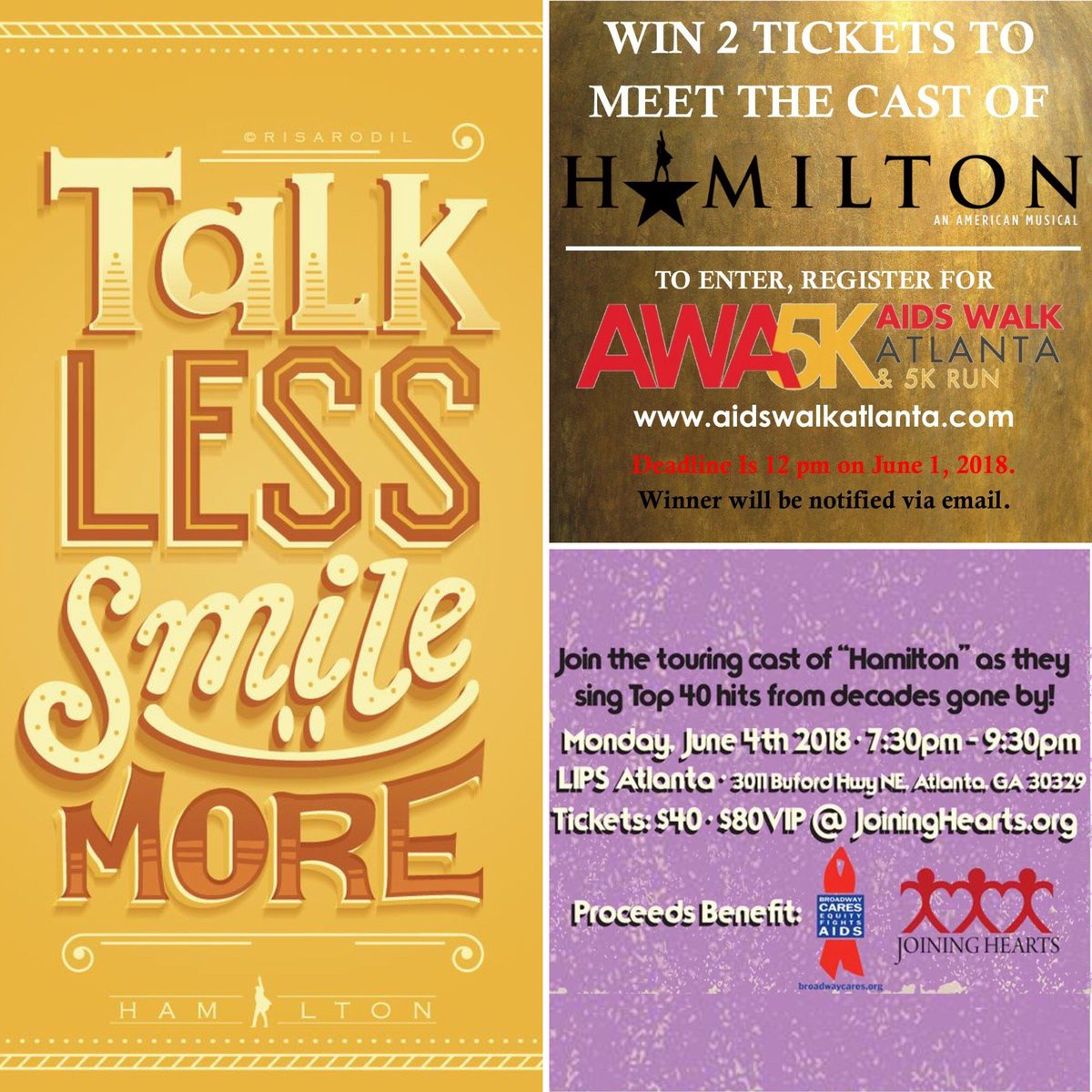 Aid Atlanta On Twitter Talk Less Smile More Enter To Win