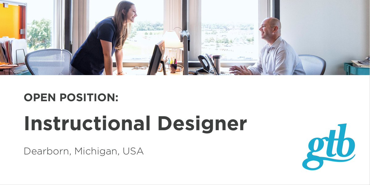 Gtb On Twitter Support Learning And Development Initiatives As An Instructional Designer At Our Dearborn Headquarters Apply Today Https T Co O2ks9bi54f Jobs Hiring Https T Co Lhiitr3n0b