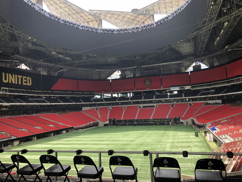 Mercedes-Benz Stadium Atlanta Estadio de Fútbol del Mundial Canadá-Estados Unidos-México 2026/Football Stadium of the Canada-United States-Mexico World Cup 2026