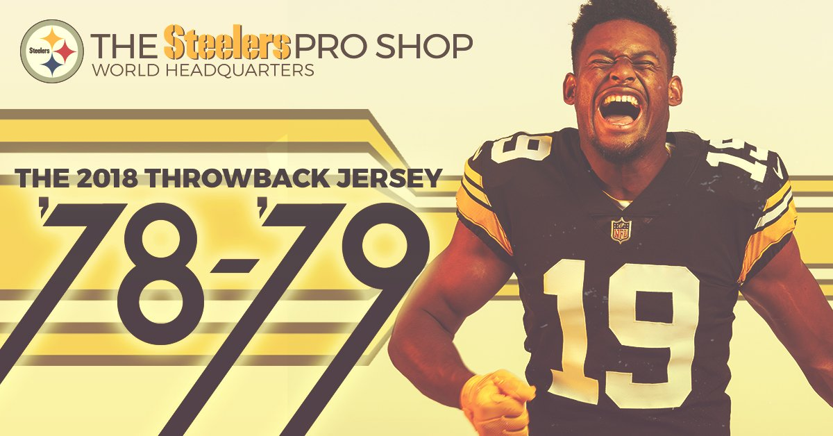 ca4c53dea92 Celebrate the legacy of the 1970 s with our 2018 Throwback Jersey. Get  yours exclusively at the  SteelersShop until midnight.