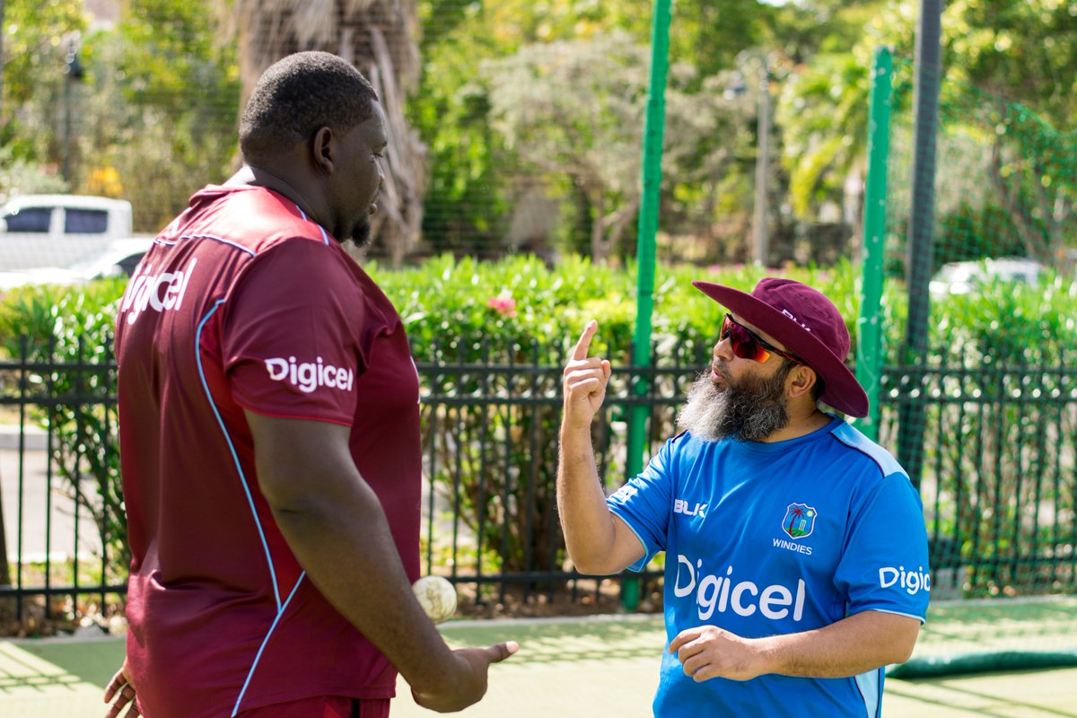 Another day of coaching with these ever talented @westindies players in the blessed month of Ramadan. Each one of these lads has amazing spark, talent and thirst to perform. Always be in competition with your very self and you are destined to shine. #WICoachingDiary