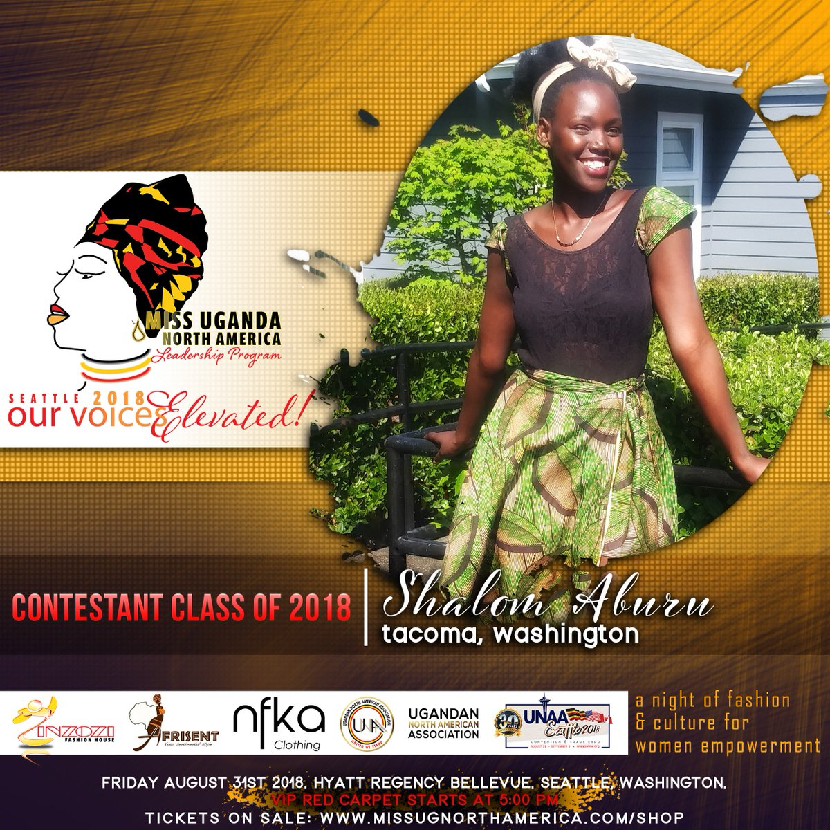 Miss Uganda North America On Twitter Meet Shalom Aburu From Washington She Is A Fashion Designer Also Works With A Non Profit In Uganda That Helps Youth To Access Education Opportunities