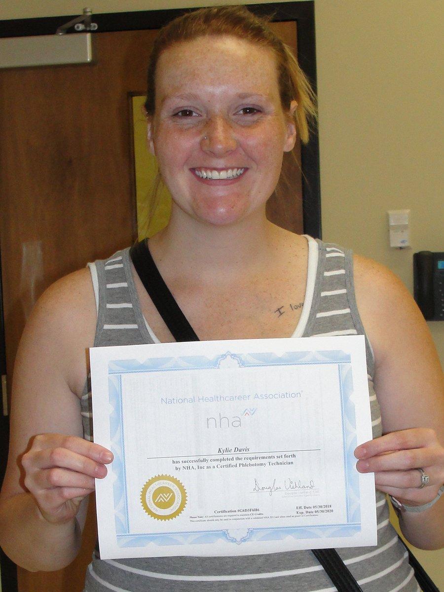 Warrencocareercenter On Twitter Kylie Davis Passed Her Certified